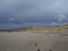 Uig Beach, Isle of Lewis, April 2018 (allanmaciver) Tags: dull overcast uig beach outer hebrides western isles sand dunes grass clouds weather allanmaciver