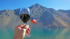 Vinho no Embalse el Yeso - Chile (Tiago Nomack) Tags: chile férias osorno puerto varas frutillar cajon del maipo andes cordilheiras