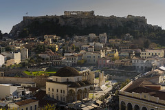 150 € (Ioannis Chrisakis) Tags: chrisakis square roof town travelers sky city view old colors house people athens architectural architect architecture street greece human building monastiraki acropolis parthenon