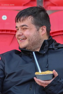 Scunthorpe United supporter at Rotherham United