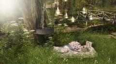 Have A Bright And Beautiful Sunday (desiredarkrose) Tags: garden gardendecor boho picnic tarte collabor88 secondlifephotography secondlifedecor secondlifegarden slgarden green nature