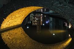 la torre riflessa (akabolla) Tags: reflections torre towers canale comacchio ponte bridge night