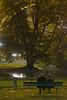 [ Creando ricchezza - Making wealth ] DSC_0289.R2.jinkoll (jinkoll) Tags: tree bench two people street couple sit seat sitting night lights eiffel tower paris france romance leaves arch architecture seated