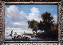River Landscape with Ferry   Salomon van Ruysdael   1649   The Rijksmuseum-14 (Paul Dykes) Tags: rijksmuseum museumofthenetherlands art gallery museum amsterdam netherlands nl holland riverlandscapewithferry salomonvanruysdael