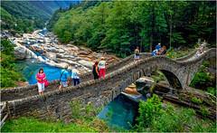 Switzerland. Ticino. Valley of the River Verzasco. Roman Bridge! (vzotov.doc) Tags: switzerland ticino valley river verzasco roman bridge fujifilm xpro1 xf1855mmf284 r lm ois vladimir zotov