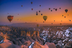 Gökyüzündeki Cennet (zekiseferoglu) Tags: asia asian balloons cappadocia china cloud colza conceptual d810 field göreme happy lands landscape landscapes nature nikon summer sun sunset tourism travel traveling turkey vacation visiting zekiseferoglu