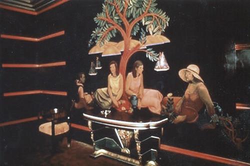 Miami Florida  - Delano South Beach Hotel  - Historic Hotel - Interior Mural