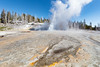 Grand Geyser eruption opening day 2018 (wide) (YellowstoneNPS) Tags: grandgeyser uppergeyserbasin ynp yellowstone yellowstonenationalpark construction geyser spring