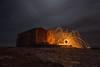 the sparks of faith (Sascha Fiori) Tags: canon steel wool tokina osilo sardegna italy night church clouds