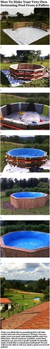 DIY Life Hacks & Crafts : Learn How To Make A Beautiful Swimming Pool Out Of 10 Pallets garden backyard di...https://is.gd/iypXoi