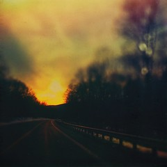 Here comes the sun and I say...it's alright (BLACK EYED SUZY) Tags: road sun drive