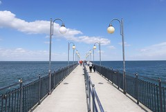 europes longest concrete pier (roomman) Tags: 2018 poland baltic sea water maritim vacation balticsea ocean międzyzdroje coast mole pier molo longest concrete europe