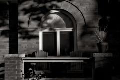 Sunset Porch (This way comes but once) Tags: nikon d200 summer porch sunset chair adirondack muskoka monochrome deck black white blackwhite