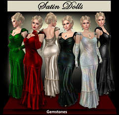 Satin Doll Gemstone Gowns (CogandFleur) Tags: satindoll gown 1930s
