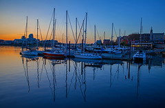Evening Delight (stevenbulman44) Tags: sailboat sailing boat water reflection blue evening spring victoria britishcolumbia 2470f28l lseries