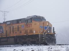 UP7527PanRochelleIL2-18-18 (railohio) Tags: up trains d750 rochelle illinois 021818 unionpacific c45accte es44ac snow fog winter hoarfrost