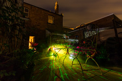 Photosynthesis (Rob Pitt) Tags: laser lightpainting garden 750d 1018mm canon wirral cheshire night longexposure