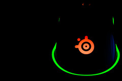 Mouse (mak_9000) Tags: pcperipheral lights lowkey green orange steelseriesmouse nightlight gamingmouse macro macromonday black