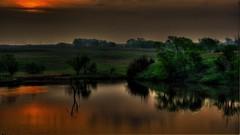 Kansas Pond (Tim @ Photovisions) Tags: pond kansas flinthills dawn dusk