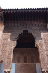 Saadiens Tombs, Marrakech, Morroco (mattk1979) Tags: marrakech morroco arab northafrica sun sky clouds city buildings old historic saadiens tombs tiles carving mausoleum kasbah
