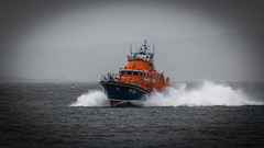 Colour Splash (MBDGE Over 1.2Million Views) Tags: boat orkney sea rnli coloursplash colour medical emergency dreich scotland spray mono black white canon sky ocean lightroom