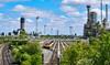60044 at Humber Refinery (robmcrorie) Tags: humber kingsbury oil refinery immingham 60044 6m00 tanks rail railway train fail fan nikon d7500