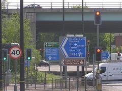 Stretford Road Signs (J_Piks) Tags: sign roadsign signpost road a56 stretford manchester trafficlights m60
