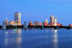 Isolated (MRD Images) Tags: boston ma massachusetts canon eos bluehour sky newengland longexposure charlesriver river reflection reflections city skyline prudentialtower hancocktower sunsetlight spring may downtown cambridge longfellow bridge