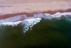 Atlantic Ocean waves on Manasquan Beach, captured by a DJI Phantom 4 drone. (apardavila) Tags: atlanticocean djiphantom4 jerseyshore manasquan manasquanbeach aerial beach drone ocean sky waves