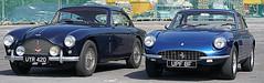 A pretty pair! (SteveJM2009) Tags: vehicle astonmartin db 24 mark3 db3 uyr420 classic 1958 car salisbury wiltshire uk april 2018 stevemaskell ferrari 430 1968
