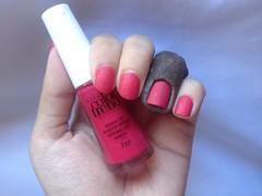 Vermelho Areia (Avon) (Daniela nailwear) Tags: vermelhoareia avon efeitoareia rosa liquidsand esmaltes mãofeita