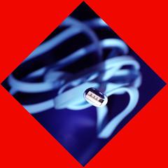 Unplugged (meghimeg) Tags: 2018 genova plugsandjacks macromondays macro blue blu rosso red