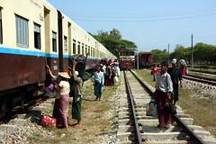 Myanmar (mbphillips) Tags: dawei ထားဝယ်မြို့ tanintharyi တနင်္သာရီ မြန်မာ train fareast southeastasia ミャンマー 미얀마 缅甸 緬甸 asia アジア 아시아 亚洲 亞洲 myanmar burma မြန်မာနိုင်ငံက mbphillips sigma18200mmf3563 canon450d geotagged photojournalism photojournalist