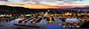 2011-10-17 Sunset Panorama (Long Exposure) (3072x1024) (-jon) Tags: anacortes skagitcounty skagit capsante night marina washingtonstate washington salishsea fidalgoisland sanjuanislands pugetsound pnw pacificnorthwest longexposure clouds cloud sky sunset pan panorama panoramic d90archives a266122photographyproduction composite stitched
