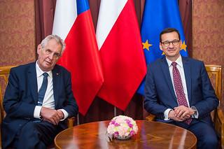 Wizyta prezytenta Republiki Czeskiej w KPRM