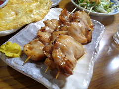 Yakitori @a Izakaya, Yurakucho, Tokyo (Phreddie) Tags: izakaya drink eat ham cutlet yakitori omelette yum happy ninght tokyo japan
