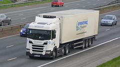 BF67 ORT (panmanstan) Tags: scania ng r450 wagon truck lorry commercial freight transport haulage vehicle a1m fairburn yorkshire