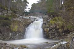 Bridge Over Milky Waters (steve_whitmarsh) Tags: aberdeenshire scotland scottishhighlands water river waterfall bridge rocks longexposure