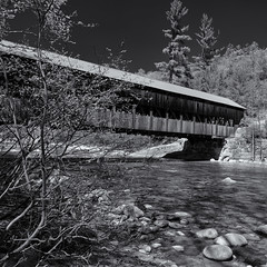 Albany Covered Bridge (Tim Ravenscroft) Tags: albany coveredbridge whitemountains newhampshire river hasselblad hasselbladx1d x1d monochrome blackandwhite blackwhite