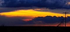 Dusk In S.W. Kansas (Tim @ Photovisions) Tags: sunset dusk sky poles kansas clouds sun