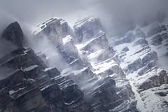 Cascade Mountain (josullivan.59) Tags: alberta banff canada canon6d rocky tamron altitude cascade clouds ice landscape mist mountains snow telephoto white travel