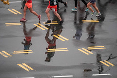 Marathon reflections (Z!SL) Tags: runners reflection reflections a6300 ilce6300 sel55210 sonyphotographing sony outdoor people marathon brooklyn newyorkcity emount minoltaemount mirrorless sports