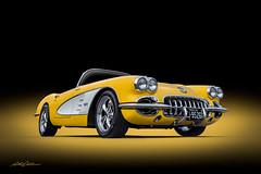 Nineteen-Sixty (DL_) Tags: vingate classic yellow corvette convertible c1 vette automotive transportation olympusomdem5mkii