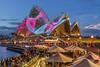 Blue sky Jelly (merbert2012) Tags: vividsydney sydneyoperahouse sydneyharbour sydney australia lightshow photoshop digitalmanipulation fun travel reisen sails nikond800 longexposure cityscape city