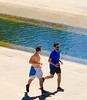 River Run (carpathiar) Tags: healthy exercise longbeach sangabrielriver handsome bro men shirtless run