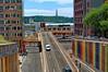 Lisbon / Avenida Infante Santo (Pantchoa) Tags: lisbonne portugalroute rue avenidainfantesanto cristorei architecture modernebâtimentsville voiture pont échangeur ar telecom artelecom nuages ciel couleurs voies croisement