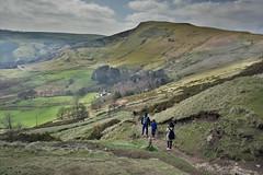 Mam Tor Footpath (Bri_J) Tags: mamtor nationaltrust peakdistrict nationalpark derbyshire uk countryside hill footpath walkers hdr sky clouds