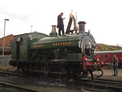 IMG_8429 - GWR Hudswell Clarke Saddle Tank 813 (SVREnthusiast) Tags: severnvalleyrailway svr severnvalley severn valley railway gwrhudswellclarkesaddletank813 gwr hudswellclarke saddletank 813