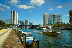 One afternoon in Miami River. (Aglez the city guy ☺) Tags: miamifl miamiriver urban river riverwalk riverwalktrail outdoors yacht yachtride waterways architecture afternoon lummuspark northriverdr