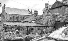 Middleton in Teesdale . (wayman2011) Tags: fujifilm23mmf2 lightroomfujifilmxpro1 wayman2011 bwlandscapes mono rural villages architecture chapels chimneys roofs pennines dales teesdale middletoninteesdale countydurham uk